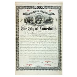 City of Louisville, ca.1900-1920 Specimen Bond