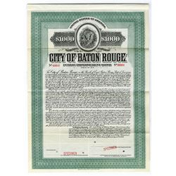 City of Baton Rouge, 1914 Specimen Bond