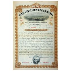 City of Cincinnati, 1881 Specimen Bond