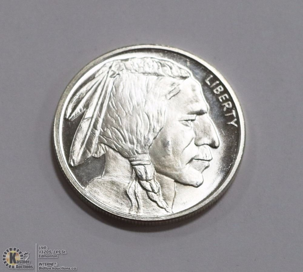 Troy Ounce 999 Silver Buffalo Coin Kastner Auctions