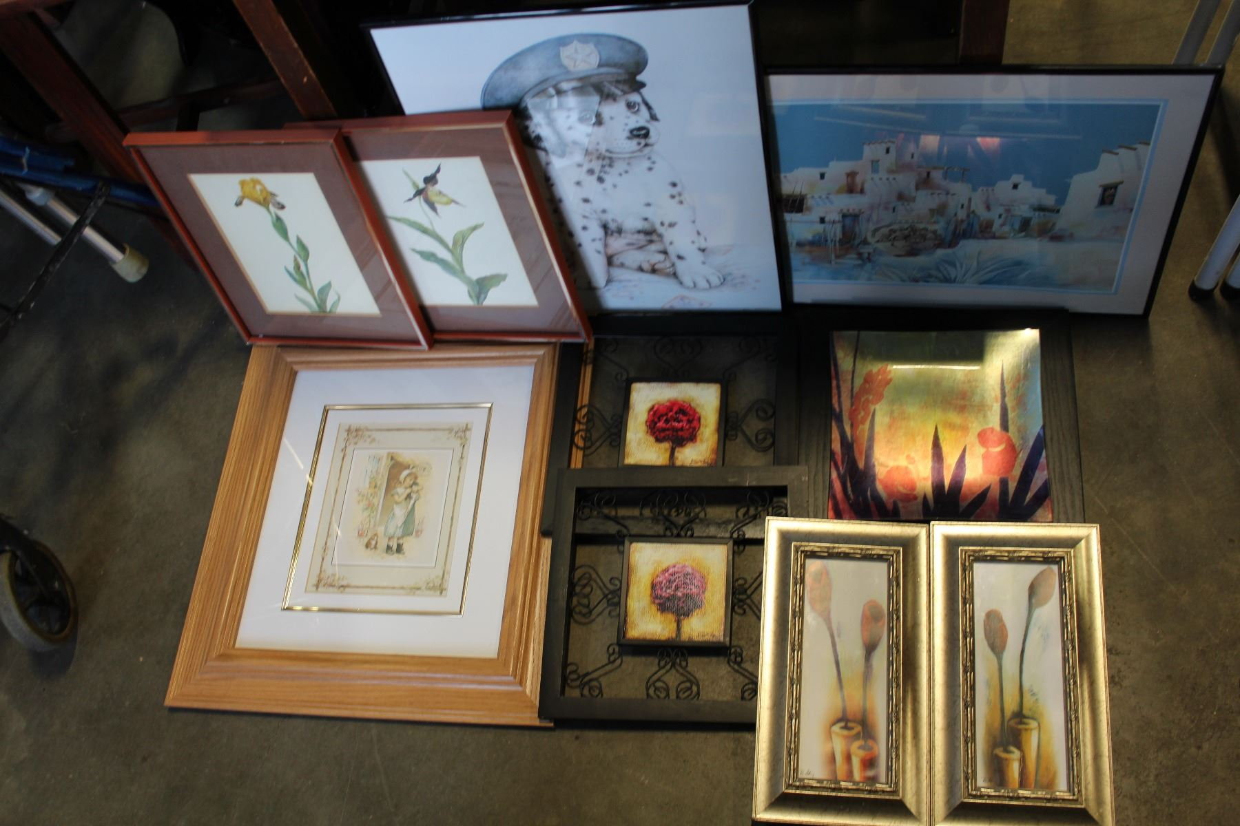 lot of small framed prints
