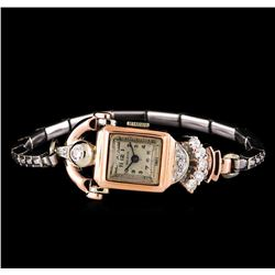 Beleco 14KT Two-Tone Gold Diamond Ladies Vintage Watch