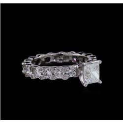 GIA Cert 1.91 ctw Diamond Ring - 14KT White Gold