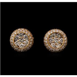 1.00 ctw Diamond Earrings - 14KT Rose Gold