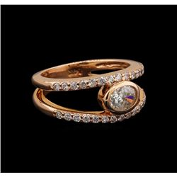 14KT Rose Gold 0.96 ctw Diamond Ring