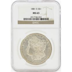 1881-S MS63 NGC Morgan Silver Dollar
