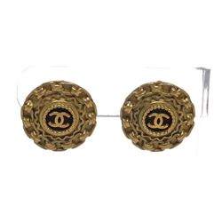 Chanel Vintage Gold CC Chain Clip On Earrings