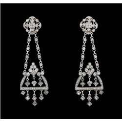 2.62 ctw Diamond Earrings - 14KT White Gold