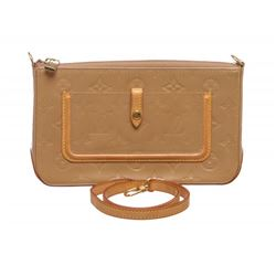 Louis Vuitton Beige Vernis Mallory Bag