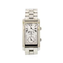 Baume & Mercier Stainless Steel Double Dial Wristwatch