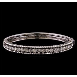 2.30 ctw Diamond Bangle Bracelet - 14KT White Gold