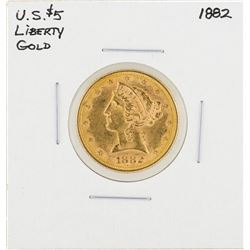 1882 $5 Liberty Head Half Eagle Gold Coin