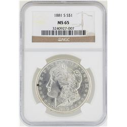 1881-S NGC MS 65 Morgan Silver Dollar