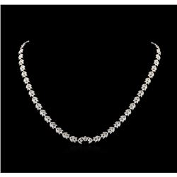 5.95 ctw Diamond Necklace - 18KT White Gold