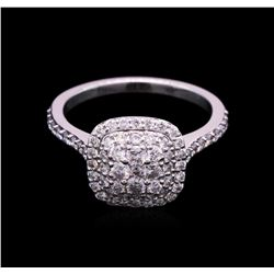 0.88 ctw Diamond Ring - 14KT White Gold