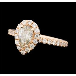 1.18 ctw Diamond Ring - 14KT Rose Gold