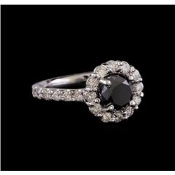 2.61 ctw Black Diamond Ring - 14KT White Gold
