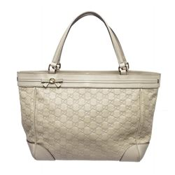 Gucci Ivory Guccissima Monogram Leather Tote Bag
