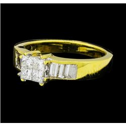 0.87 ctw Diamond Ring - 18KT Yellow Gold