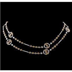 11.61 ctw Diamond Necklace - 18KT White Gold