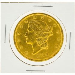 1904 $20 AU Liberty Head Double Eagle Gold Coin