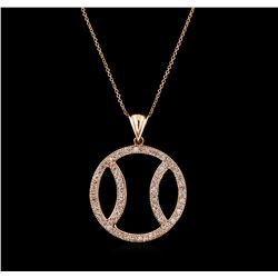 1.00 ctw Diamond Basketball Pendant With Chain - 14KT Rose Gold