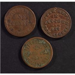 3- CIVIL WAR TOKENS FROM NEW YORK