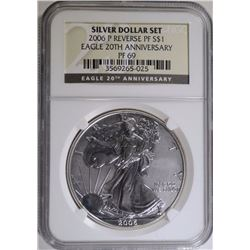 2006-P AMERICAN SILVER DOLLAR REV. PROOF, NGC PF69