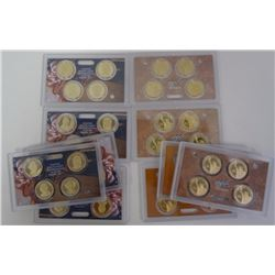 (10) Presidential Dollar Proof Sets with No Origin