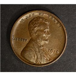 1914 LINCOLN CENT CH BU BROWN