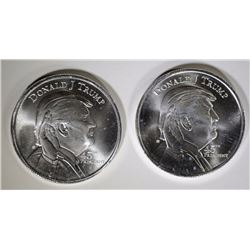 2 - DONALD J TRUMP PRESIDENTIAL .999 SILVER ROUNDS