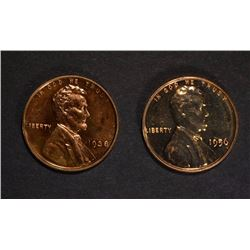 1938 & 1956 PROOF LINCOLN CENTS