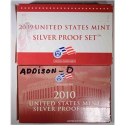 2009 & 2010 Silver Proof Sets