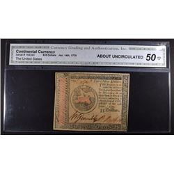 1779 $35 CONTINENTAL CURRENCY CGA 50