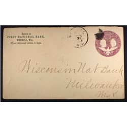 1893 COLUMBIAN EXPOSITION POST ENTIRE