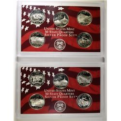 (2) 2006 United States Silver Quarter Proof Sets.