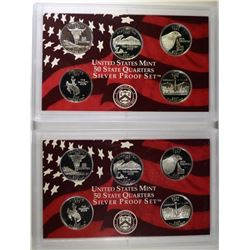 (2) 2007 United States Silver Quarter Proof Sets