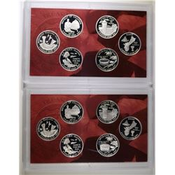 (2) 2009 United States Silver Quarter Proof Sets