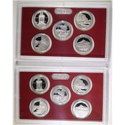 (2) 2010 United States Silver Quarter Proof Sets