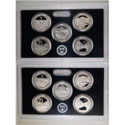 (2) 2011 America the Beautiful Silver Quarter Sets