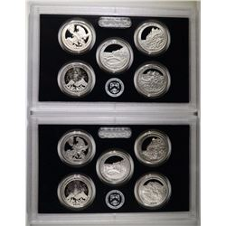 (2) 2012 America the Beautiful Silver Quarter Sets
