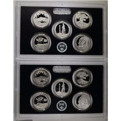 (2) 2013 America the Beautiful Silver Quarter Sets