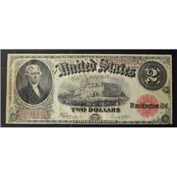 1917 $2.00 LEGAL TENDER NOTE, XF NICE