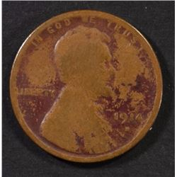 1914-D LINCOLN CENT, GOOD KEY COIN