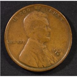 1931-S LINCOLN CENT, VF KEY COIN