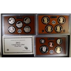 2012 U.S. PROOF SET ORIG BOX/COA