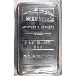 TEN OUNCE .999 SILVER BAR