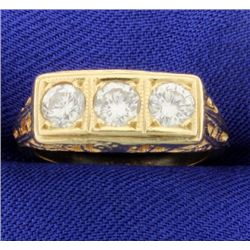 Vintage 1ct TW 3 Stone Diamond Ring
