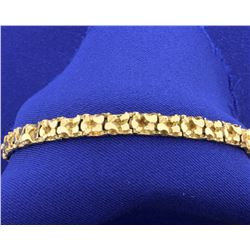 14K Yellow Gold Nugget Bracelet
