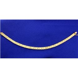 Diamond Cut Gold Bracelet